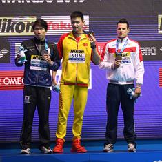 'You're a loser, I win': Swimmer Sun Yang responds as Duncan Scott refuses to share podium at Worlds