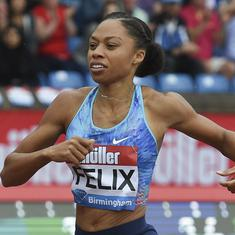'A starting point': Olympic legend Allyson Felix happy to be back racing after premature delivery