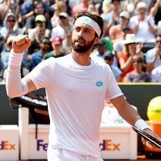 Tennis: Nikoloz Basilashvili battles past Andrey Rublev to retain Hamburg Open title