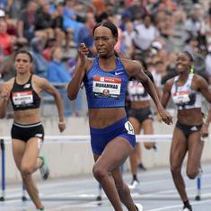 US Championships: Dalilah Muhammad breaks 16-year record in 400m hurdles, Noah Lyles wins 200m race