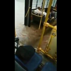 Watch: How a 'bus service' became a 'boat service', and other scenes from the Mumbai rains