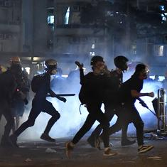 Hong Kong protests: Flights cancelled, key roads blocked as police fire tear gas, rubber bullets