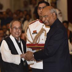 प्रणव मुखर्जी के भारत रत्न सम्मान समारोह में गांधी परिवार के किसी भी सदस्य ने हिस्सा नहीं लिया