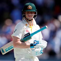 Ashes: On return from concussion break, Steve Smith dismissed for 23 in tour match against Derby