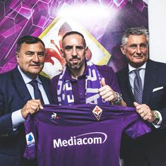 Football: Former Bayern Munich winger Franck Ribery arrives in Italy ahead of Fiorentina move
