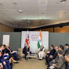 G-7 summit: Narendra Modi meets Boris Johnson, expected to meet Donald Trump today