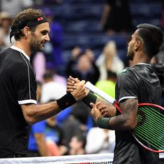 US Open: Roger Federer fights back from a set down as Sumit Nagal impresses on Grand Slam debut