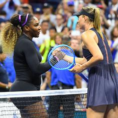It's easy to be discouraged: Sharapova sees positives despite US Open loss to Serena in first round