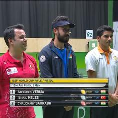 Shooting: Abhishek Verma wins 10m air pistol gold at Rio World Cup, Saurabh Chaudhary bags bronze