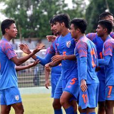 Football: Sridarth nets hat-trick as India crush Nepal 7-0 win third Saff U-15 Championship title
