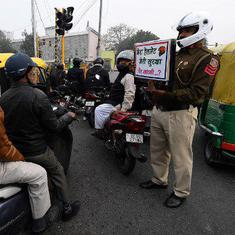 Gurugram: Biker fined Rs 23,000 for violations under new Motor Vehicles Act
