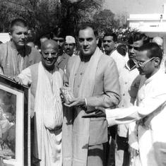 How Doordarshan used foreign visits and public meetings to sell Rajiv Gandhi as a 'man of action'