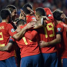 Football: Spain and Italy maintain perfect record in qualifiers to move closer to Euro 2020