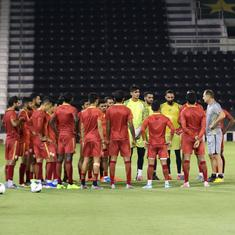 Indian football team trains on artificial turf to get acclimatised for WC qualifier against Afghans
