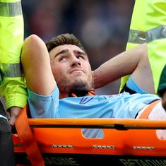 Injured defender Aymeric Laporte out for up to six months, confirms Man City boss Pep Guardiola