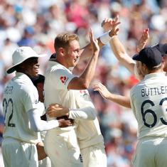 Ashes: Broad, Leach help England level series with 135-run win as Wade's century goes in vain