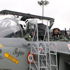 Rajnath Singh flies in Tejas, becomes first defence minister to do sortie in indigenous fighter jet