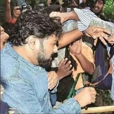 'I will not harm your son,' Babul Supriyo tells the mother of a student who allegedly attacked him