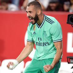 La Liga: Karim Benzema on target as Real Madrid earn crucial win at high-flying Sevilla