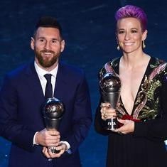 Lionel Messi edges out Virgil Van Dijk to win FIFA player of the year award