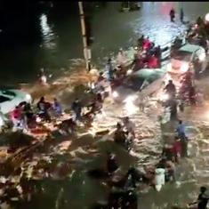Watch these devastating scenes of flooding from Pune's streets