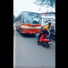 Watch: Kerala woman teaches a bus driver a lesson on lane-driving