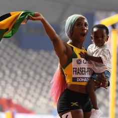 Athletics World C'ships: Fraser-Pryce wins 4th 100m title, Felix breaks Bolt's record with 12th gold