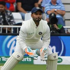 Ranchi Test: Wriddhiman Saha's finger injury being assessed as Rishabh Pant fills in on day three