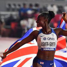 Athletics World C'ships: Comfortable win for Asher-Smith in 200m, Holloway takes 110m hurdles gold