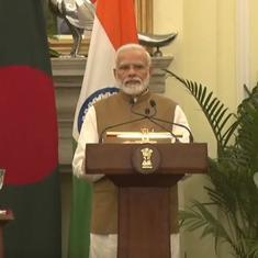 Narendra Modi, Sheikh Hasina hold talks, inaugurate three bilateral projects