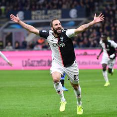 Serie A: Juventus ascend to top after 2-1 win over Inter Milan; Napoli held to draw by Torino