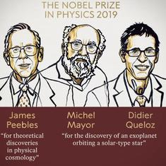 Nobel Prize in Physics goes to James Peebles, Michel Mayor, Didier Queloz for work in cosmology