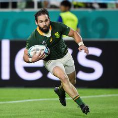 Rugby World Cup: Cobus Reinach makes history as South Africa trounce Canada to reach quarters