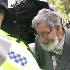 Watch: This 91-year-old man was arrested for protesting against climate inaction in London