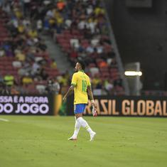 Neymar becomes youngest to 100 caps but Senegal spoil party by holding Brazil to 1-1 draw