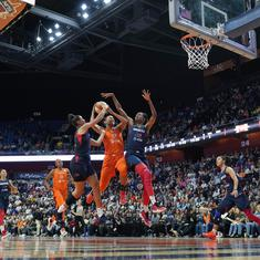 Washington Mystics rally to beat Connecticut Sun and lift their first WNBA title