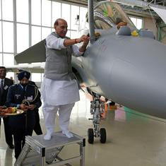Rajnath Singh defends 'shastra puja' while receiving Rafale jet, cites faith