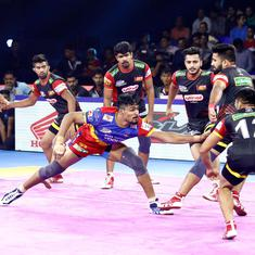Pro Kabaddi: Dabang Delhi top table, UP Yoddha secure thumping win against Bengaluru Bulls