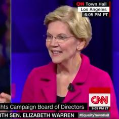 Watch: Elizabeth Warren's razor-sharp reply to opponents of same-sex marriage floored the audience