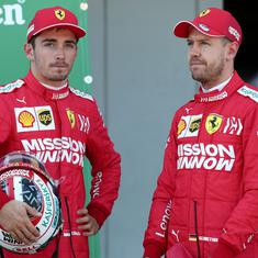 Vettel's sizzling lap sets up front row for Ferrari in typhoon-hit Japanese Grand Prix