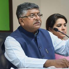 Ravi Shankar Prasad retracts comment about Bollywood box-office takings and GDP slowdown