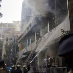 One person dead and six injured in major fire at South Mumbai building