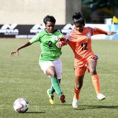 Football: Bangladesh hold India to 1-1 draw in SAFF women's U-15 Championship
