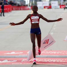 Athletics: Kenya's Brigid Kosgei breaks Paula Radcliffe's marathon world record in Chicago