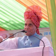'If not Om, then what?' Rajnath Singh targets Congress for criticising Rafale 'shastra puja'