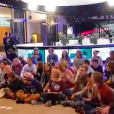 Watch: Youth for Climate ends sit-in at the European Parliament