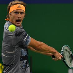 Tennis: Zverev knocked out of Swiss Indoors in first round; Tsitsipas, Fognini advance