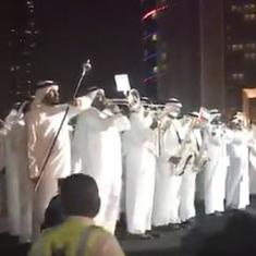 Watch: Dubai police band plays India's national anthem during Diwali celebrations