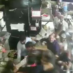 Watch: CCTV footage reveals a heated fistfight over food at a restaurant in Bhopal