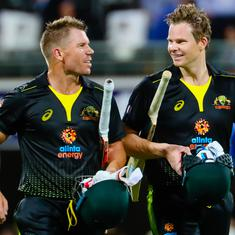 Warner and Smith's half-centuries in second T20I power Australia to series win against Sri Lanka